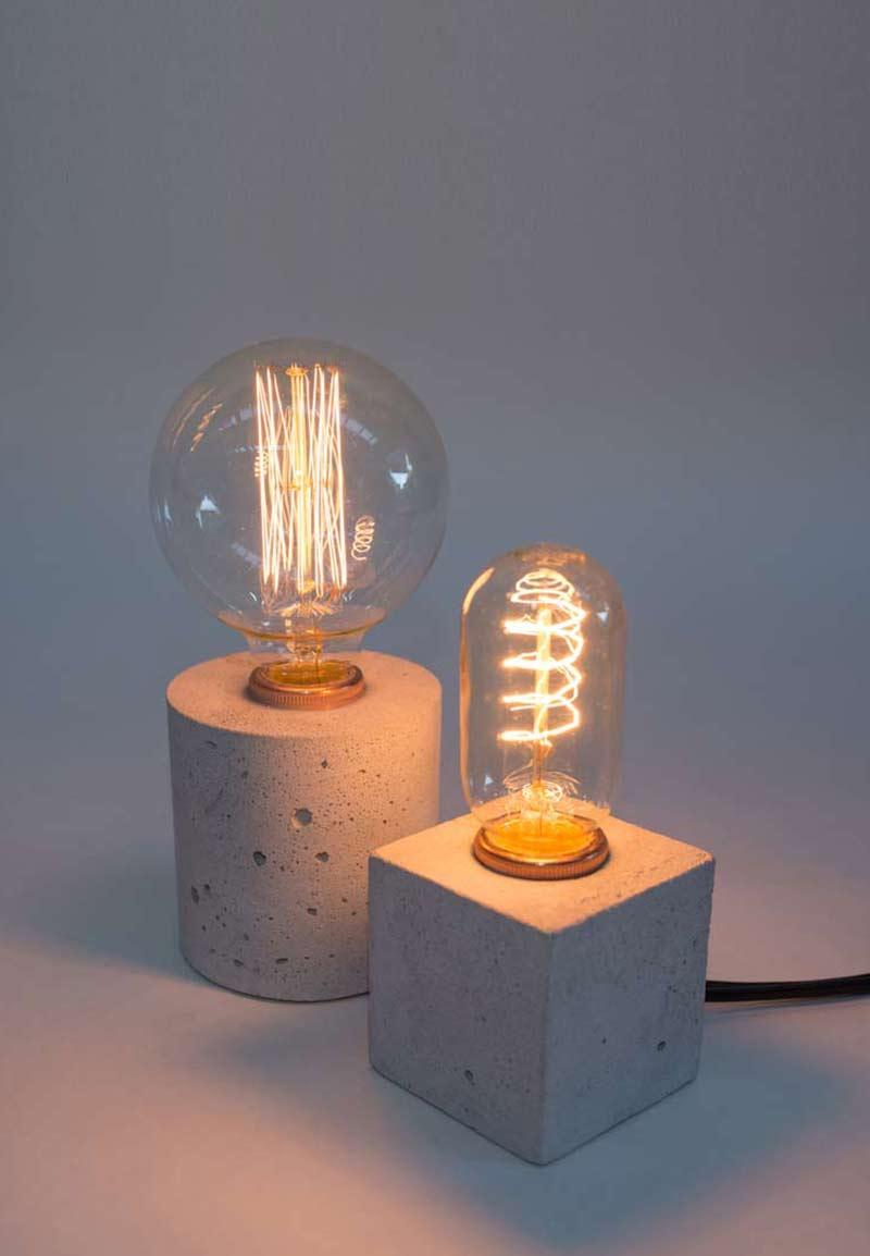 Simple A Concrete Desk Lamp Vincent Buret