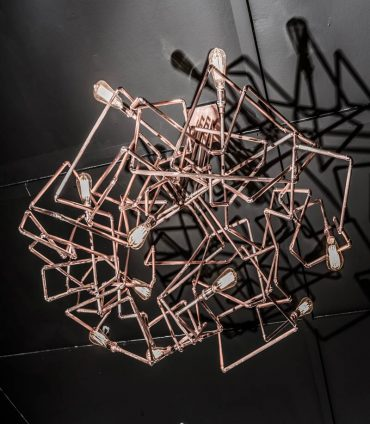 Scribble – a Copper Chandelier