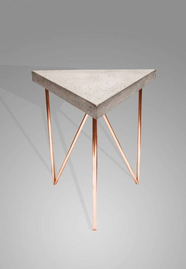 Copper Concrete triangle – a side table