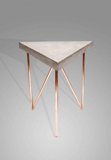 Copper Concrete triangle – a side table
