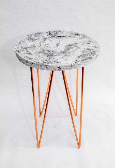 Copper Concrete Circle – a side table