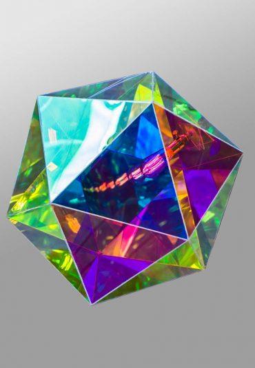Mirobolante –  a light sculpture – Icosahedron