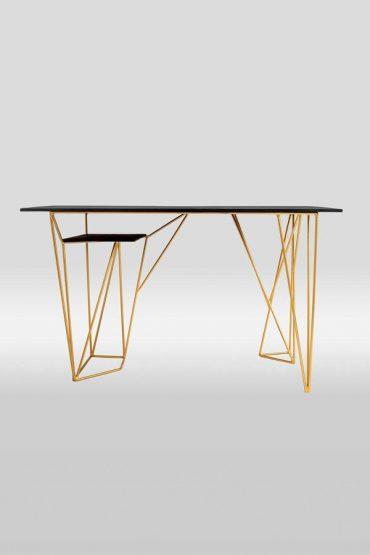 Acute desk- a custom hand made home office desk